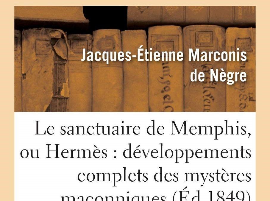 O Santuário de Memphis, livro de Marconis de Nègre